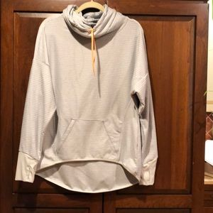 Mpg large ladies pullover athletic shirt gray guc